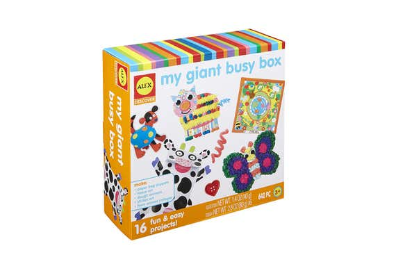 The Alex My Giant Busy Box craft kit.