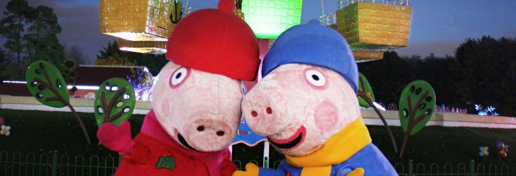 Peppa Pig and George at Christmas at Paultons