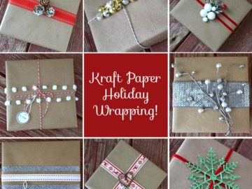 Holiday Gift Wrapping Ideas Using Kraft Paper