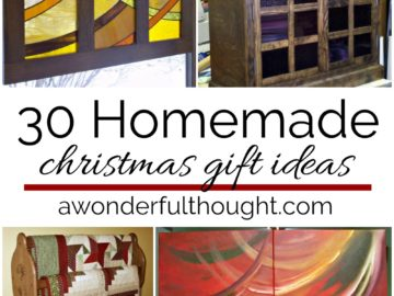 Homemade Christmas Gift Ideas - A Wonderful Thought