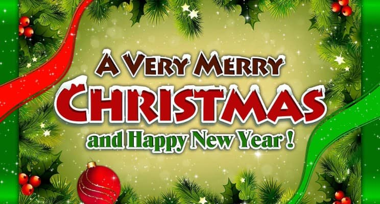 merry christmas and happy new year 2020 images
