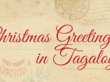 Tagalog Christmas Greetings on Holiday Cards