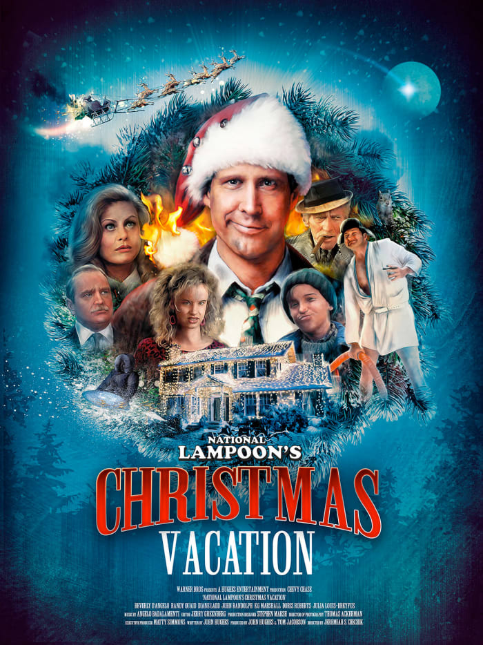National Lampoon's Christmas Vacation Movie (1989); Starring: Chevy Chase, Beverly D'Angelo, Juliette Lewis, John Galecki, & Randy Quaid