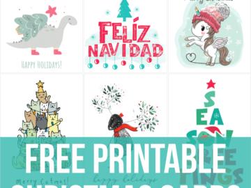free printable christmas cards - 100+ designs
