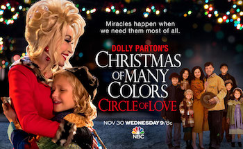 Dolly Parton's Christmas of Many Colors: Circle of Love titlecard