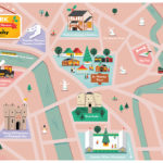Illustrated map of York Christmas Markets