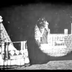 an example of christmas movies from the silent film era: a still image from silent movie about santa claus