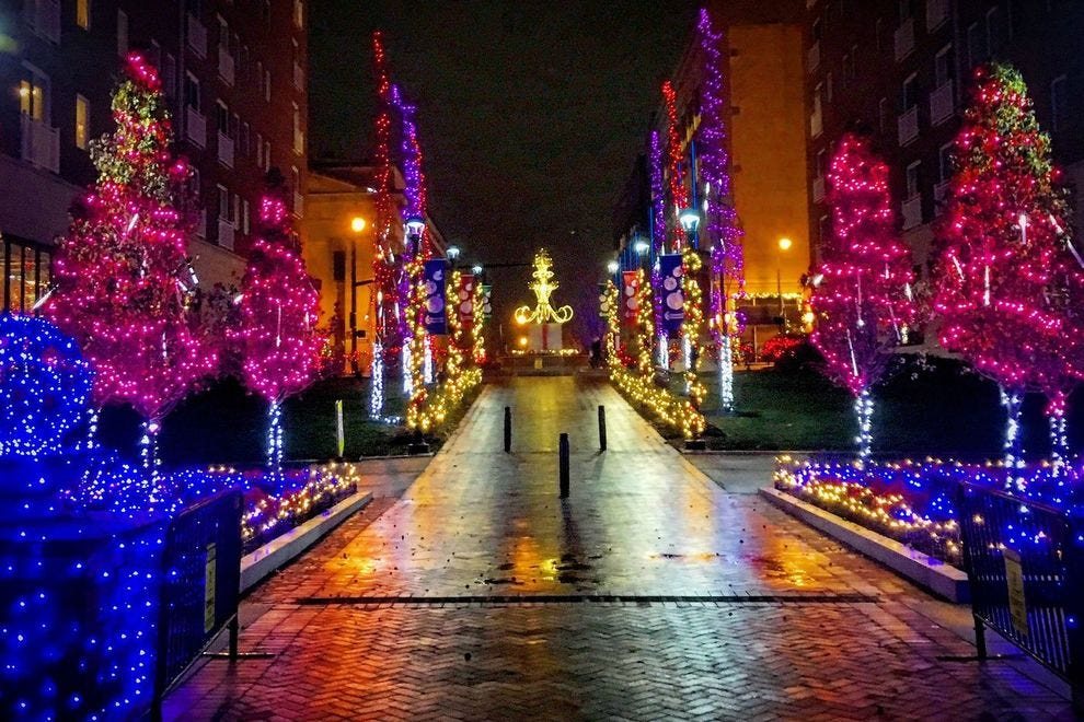 Columbus is full of lights and festivities during the holiday season