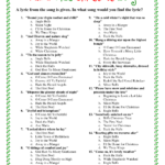 Printable Christmas Song Trivia